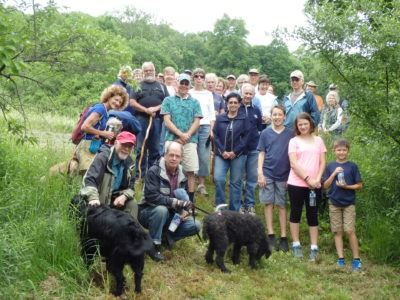 2016 Trails Day Hike in Stout Family Fields.