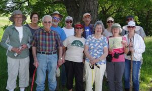 Participants in the 2019 Celebrate Bloomfield hike at Auerfarm State Park Scenic Reserve, photo courtesy Dennis Hubbs