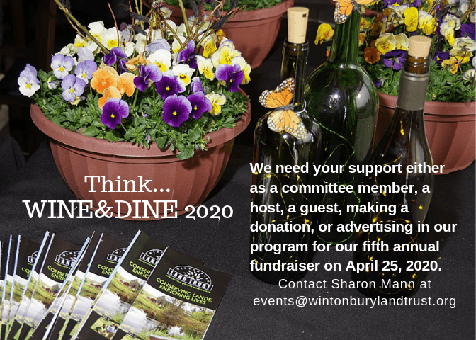Contact events@wintonburylandtrust.org to volunteer for the Wine & Dine April 25, 2020