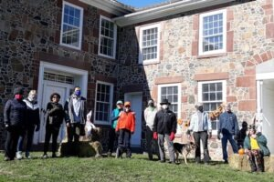 Group photograph in front of Oliver Filley House in Bloomfield's LaSalette Open Space