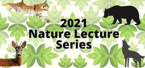 Graphic logo for the 2021 nature lecture series cosponsored by the Town of Bloomfield Leisure Services and the Wintonbury Land Trust